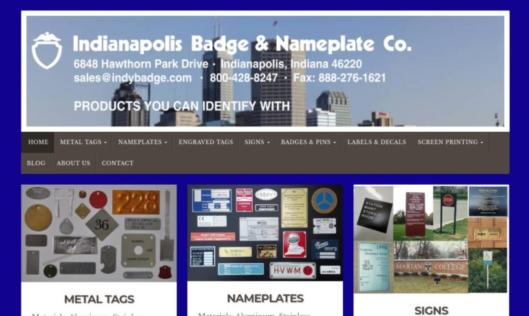 Indianapolis Badge & Nameplate Company